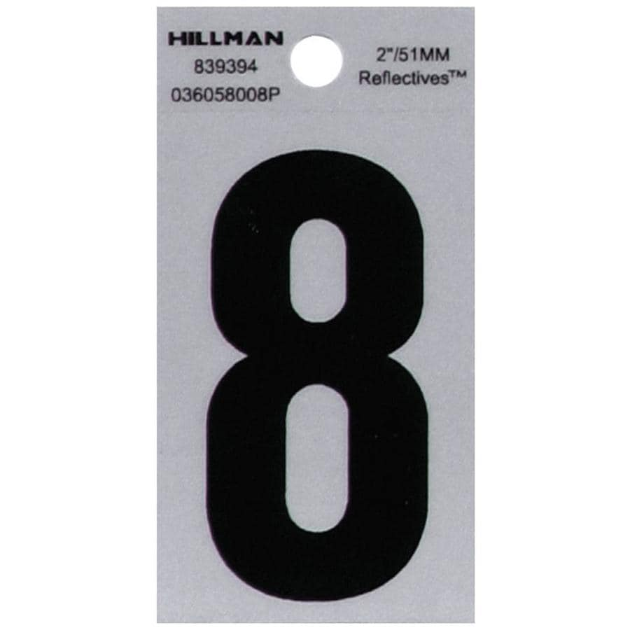 Hillman 2-in Reflective Black House Number 8