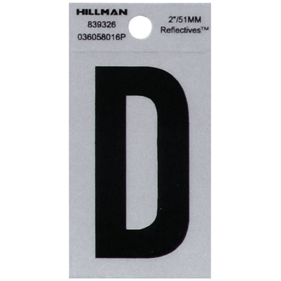 Shop hillman sign center 2 in black and silver reflective for House letters lowes