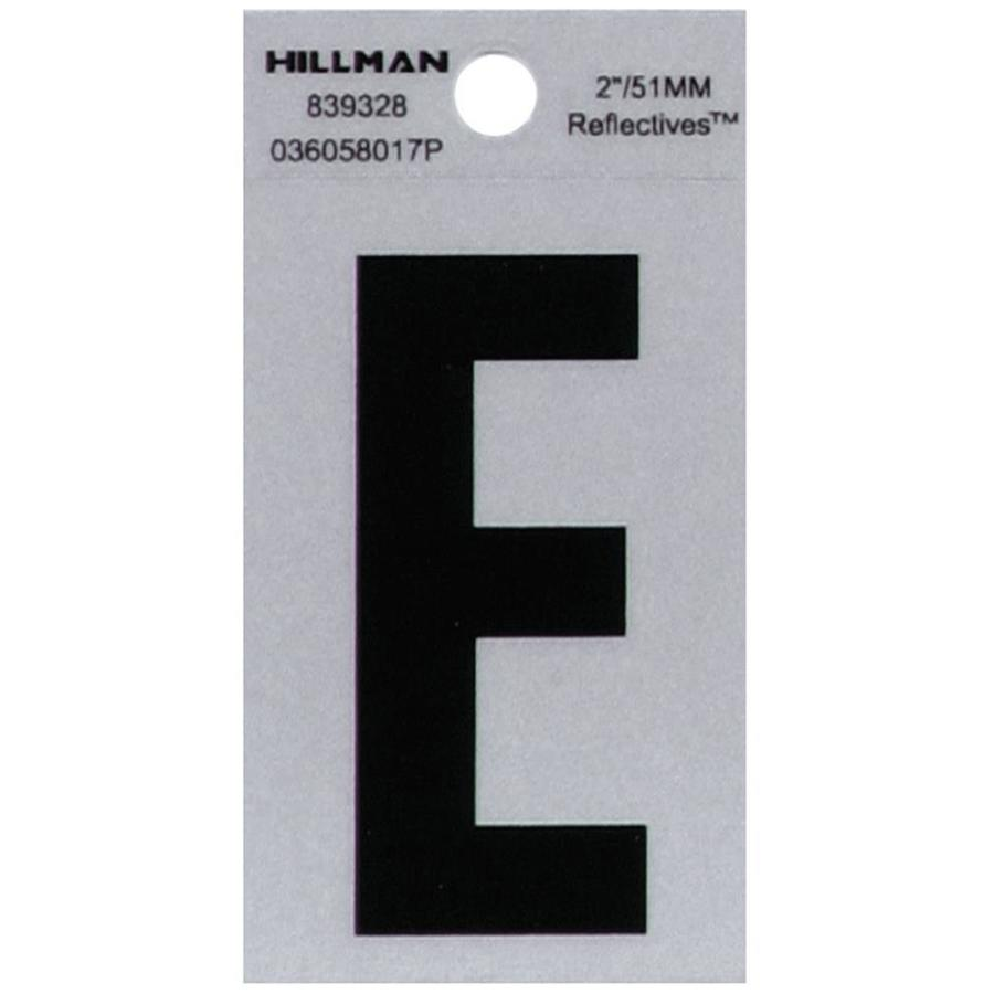 Hillman 1.4-in Reflective Black House Letter E
