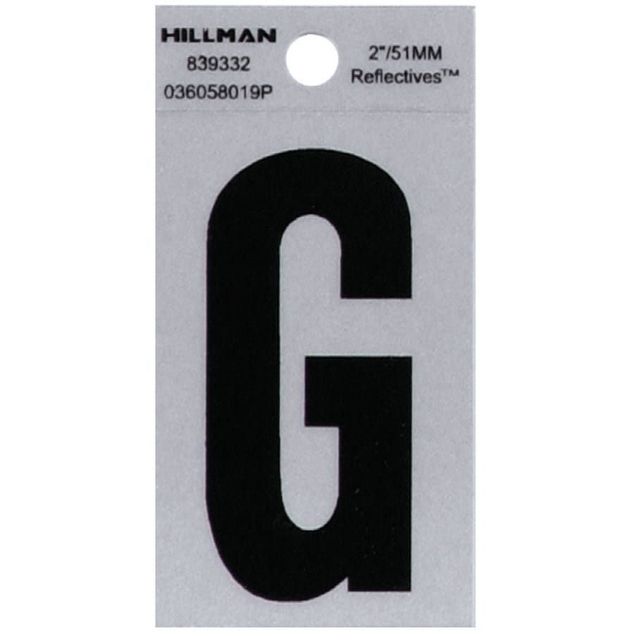 Hillman 2-in Black and Silver Reflective House Letter G