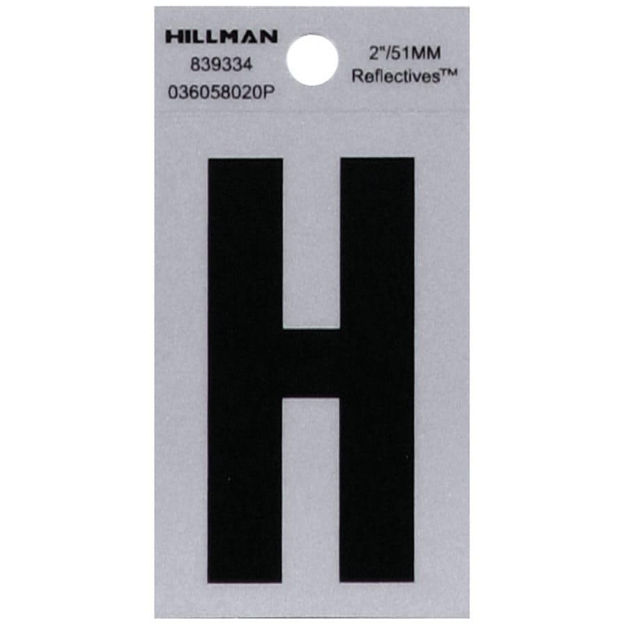 Hillman 2-in Reflective Black House Letter H