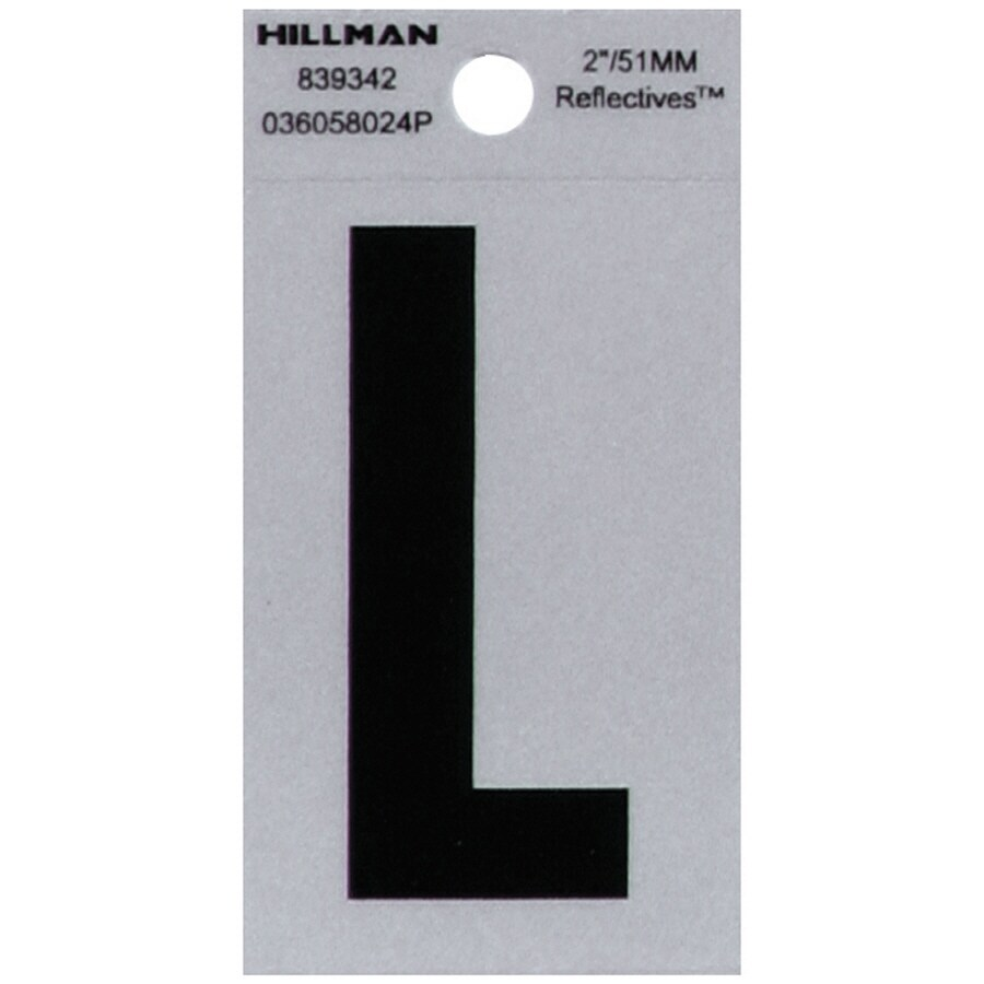 Shop hillman 2 in reflective black house letter l at lowescom for House letters lowes