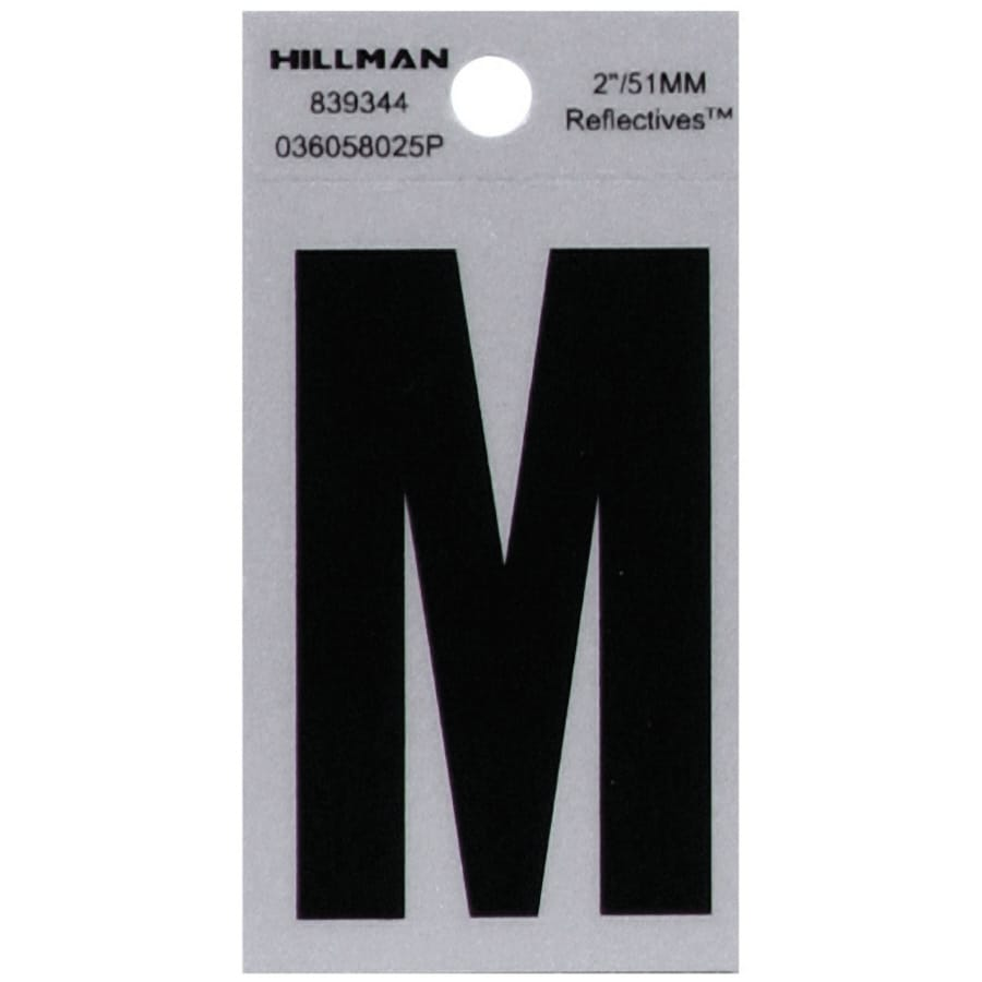 Shop hillman 2 in reflective black house letter m at lowescom for House letters lowes