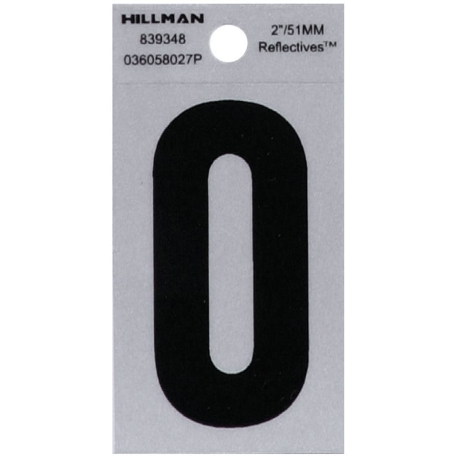 Hillman 2-in Reflective Black House Letter O