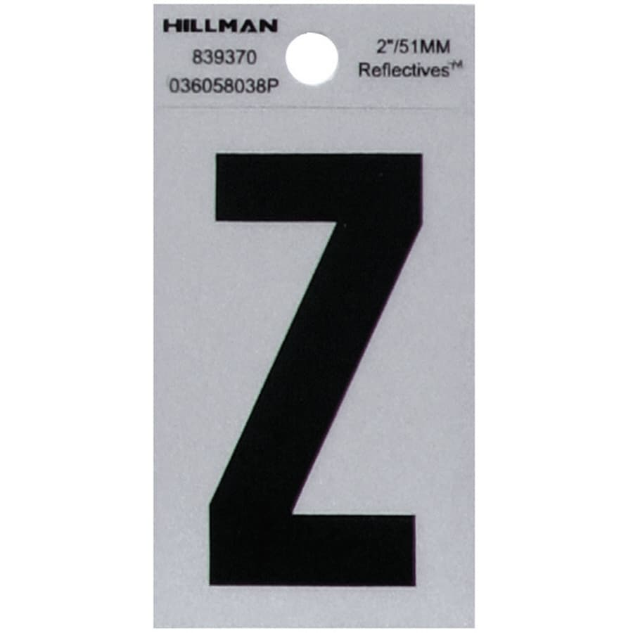 Hillman 2-in Reflective Black House Letter Z