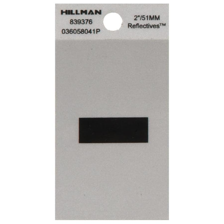 Hillman 2.1-in Reflective Black House Letter Hyphen