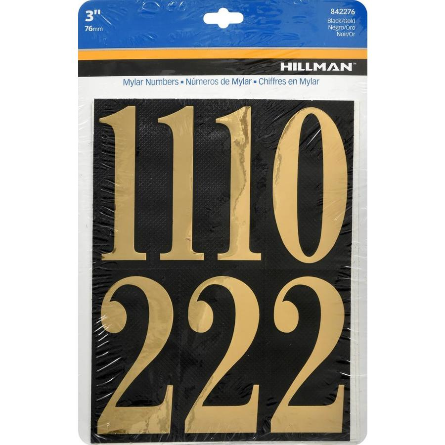 Hillman 3.25-in x 1.625-in Assorted Numbers Sign