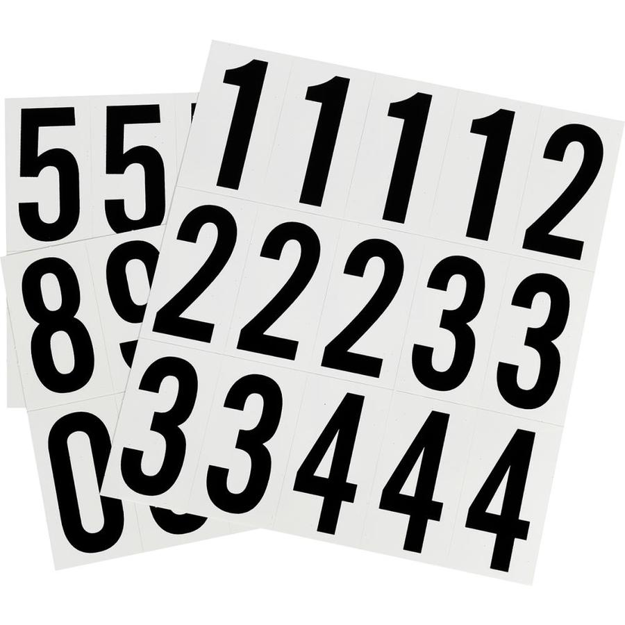 Shop hillman 85 in black white house number pack at lowescom for House letters lowes