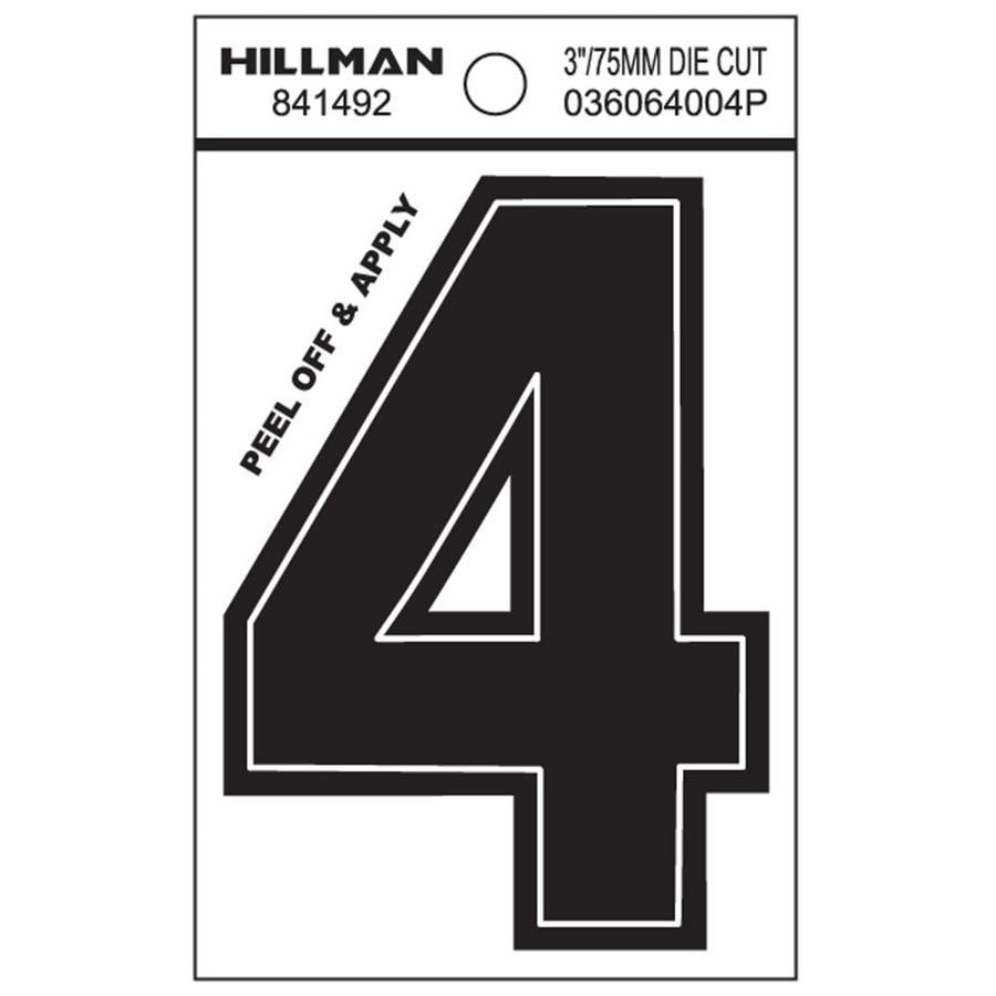 The Hillman Group 3-in Black House Number 4