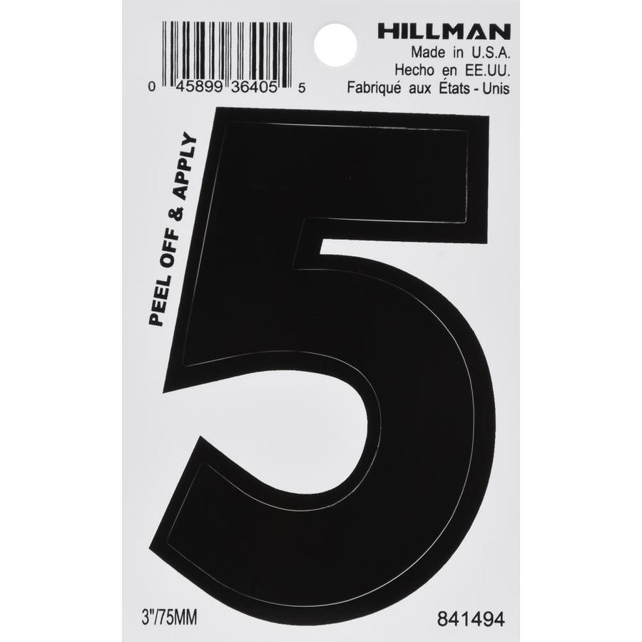 Hillman 3-in Black House Number 5