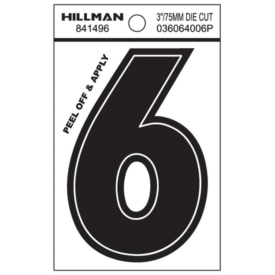 Hillman 4.3-in House Number 6