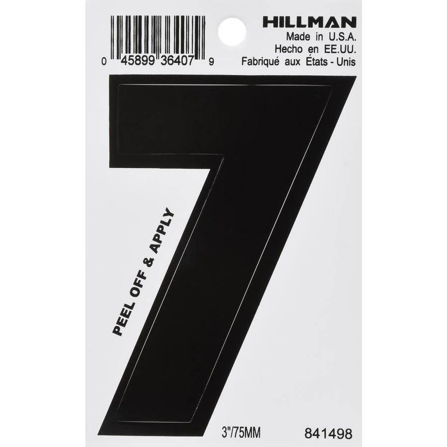 Hillman 3-in Black House Number 7