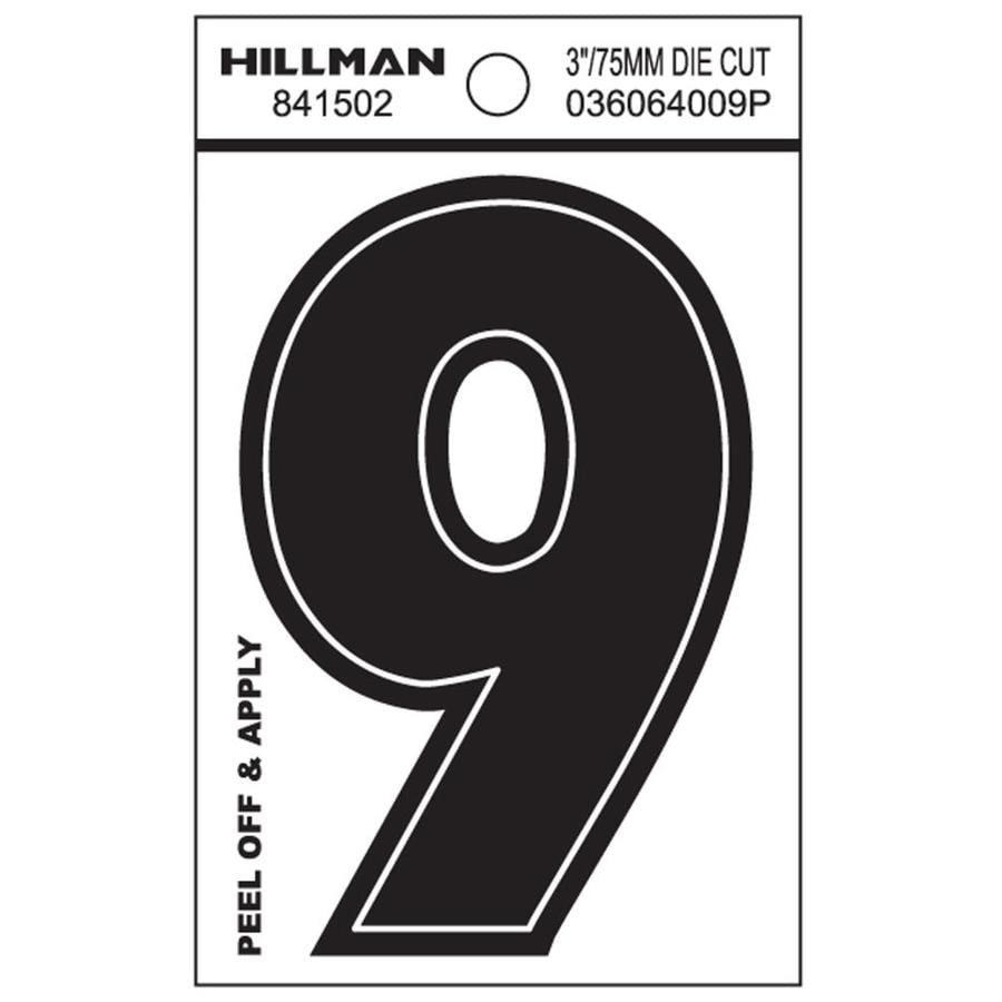 Hillman 3-in Black House Number 9