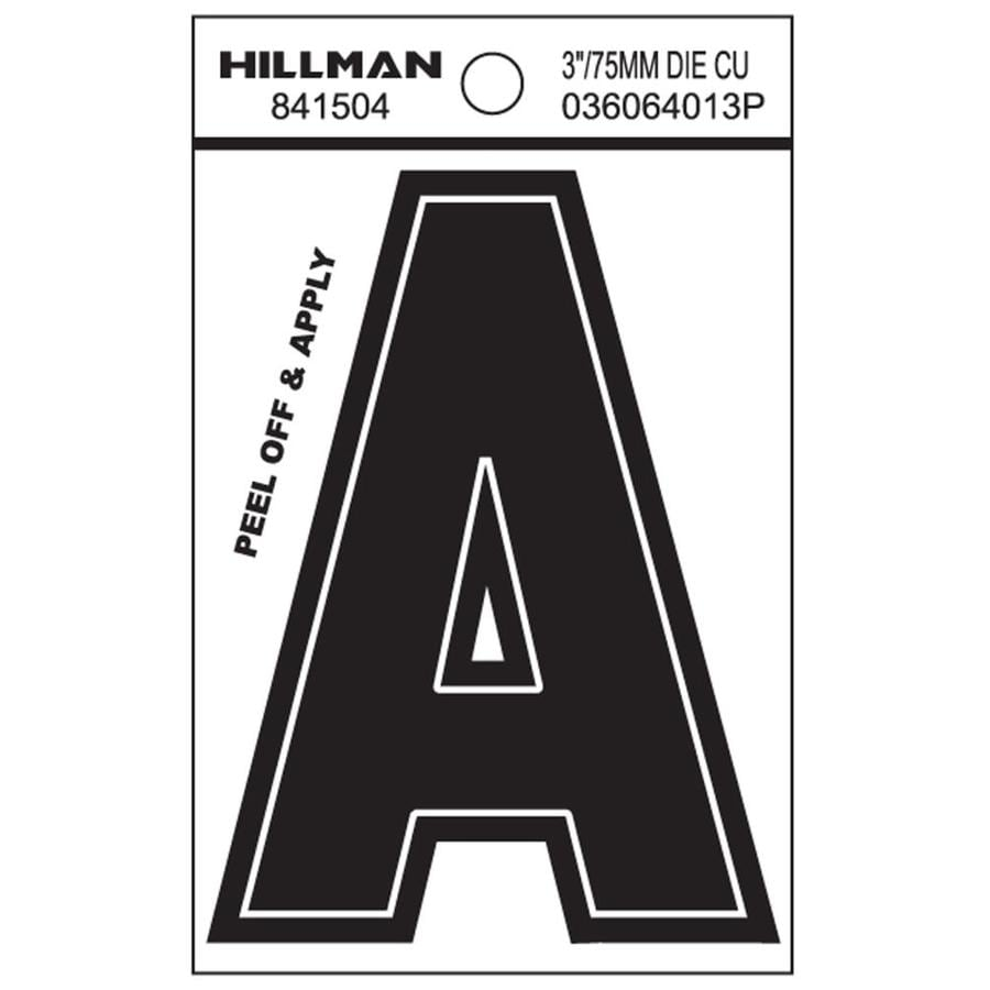 The Hillman Group 3-in Black House Letter A