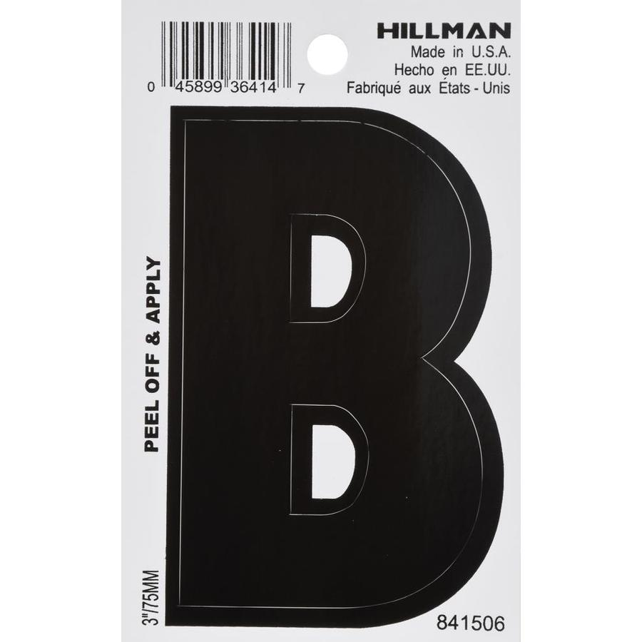 The Hillman Group 3-in Black House Letter B