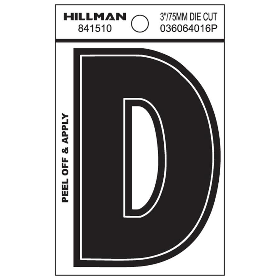 The Hillman Group 3-in Black House Letter D