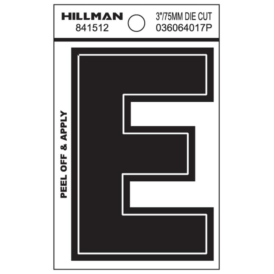 The Hillman Group 3-in Black House Letter E
