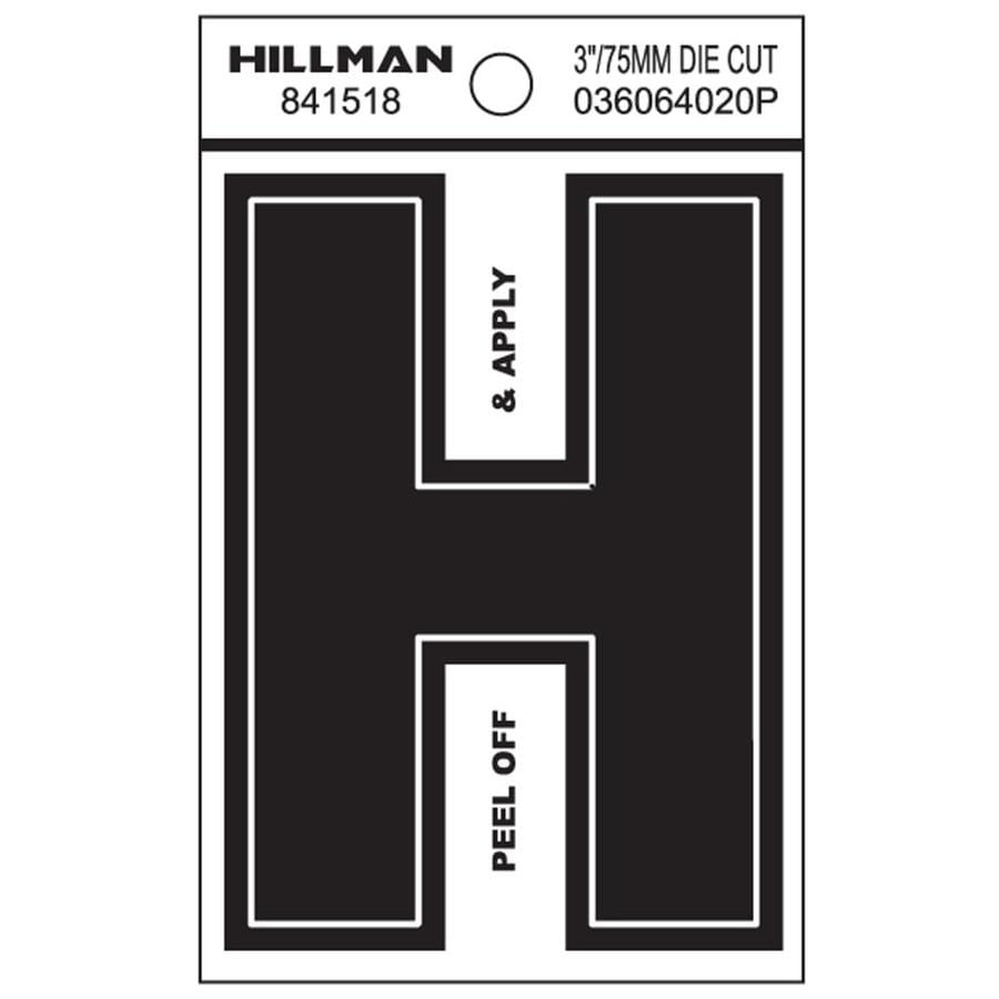 The Hillman Group 3-in Black House Letter H