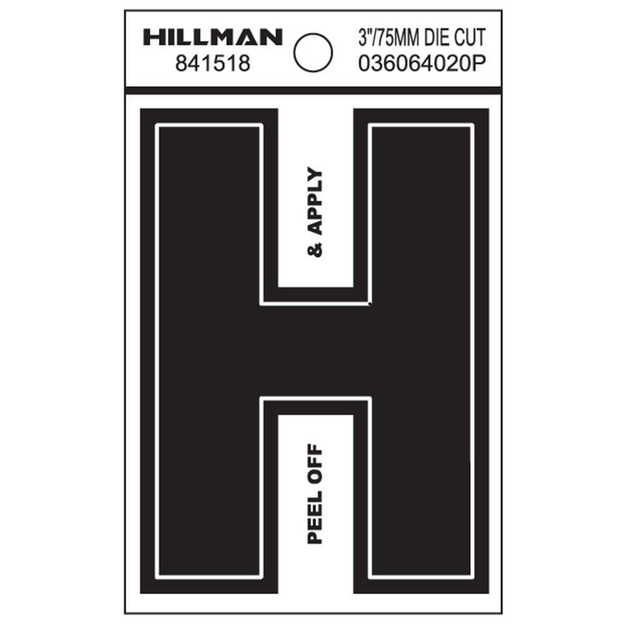 Hillman 2.6-in House Letter H