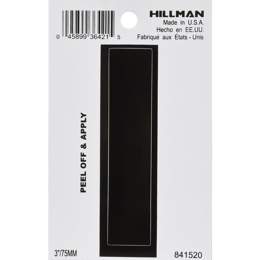 The Hillman Group 4-in Black House Letter I