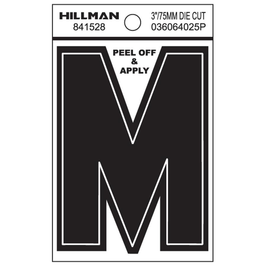 The Hillman Group 3-in Black House Letter M