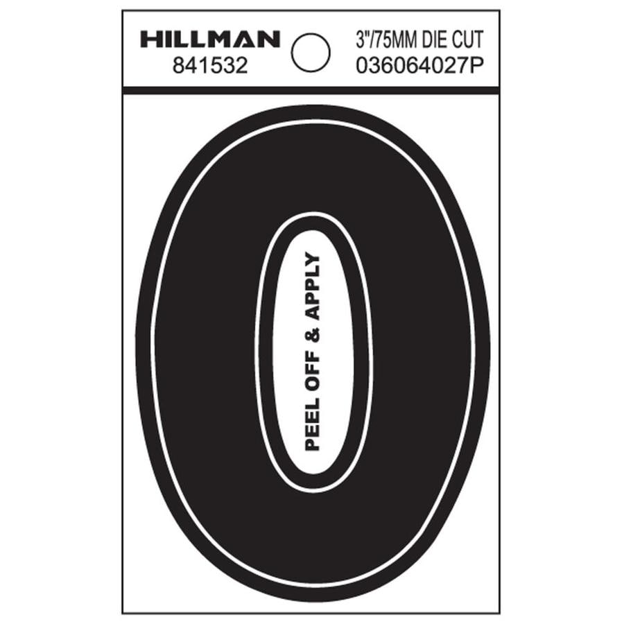 The Hillman Group 3-in Black House Letter O