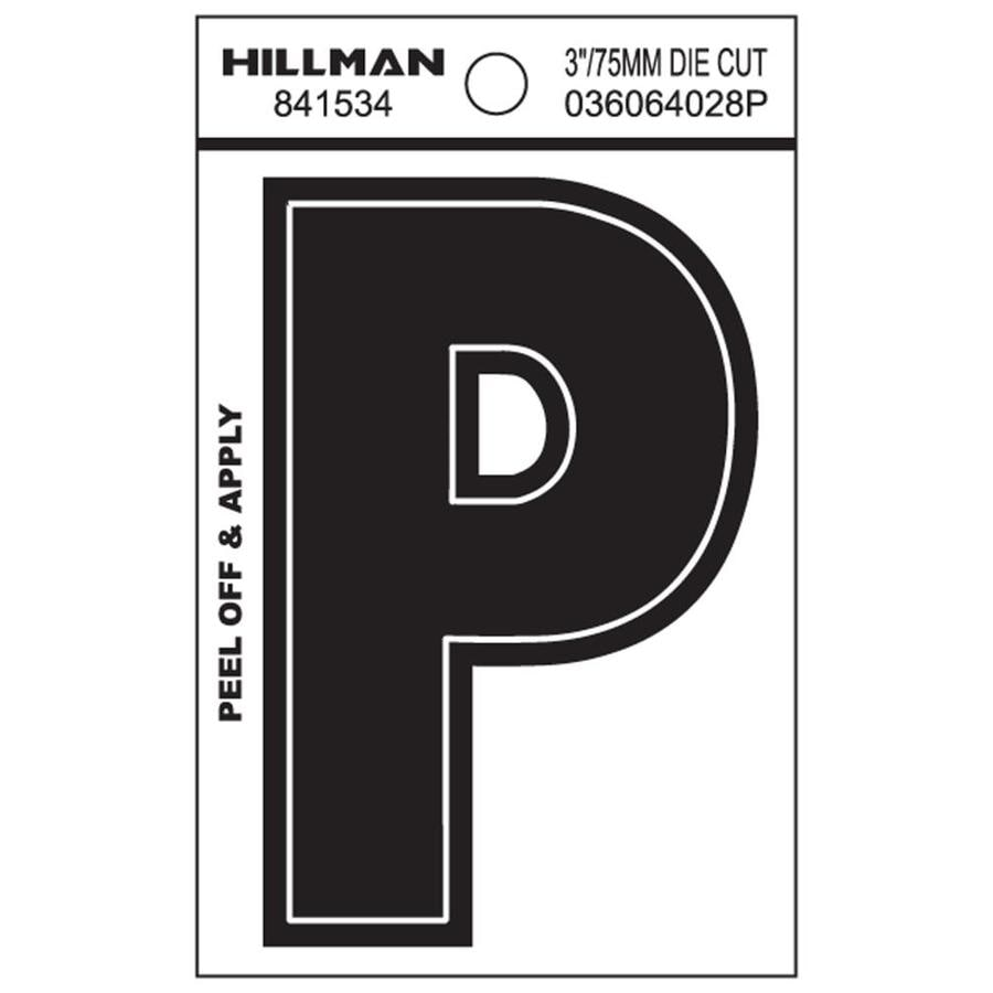The Hillman Group 3-in Black House Letter P