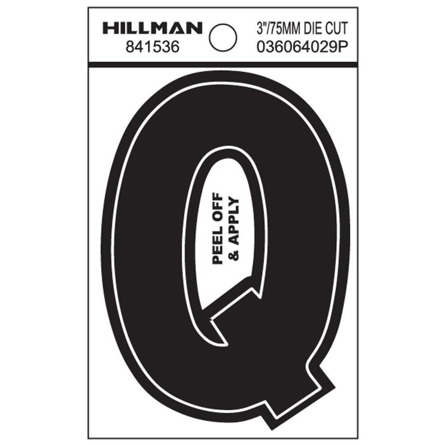The Hillman Group 3-in Black House Letter Q