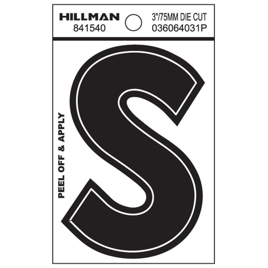 Hillman 5.5-in Reflective Black House Letter S