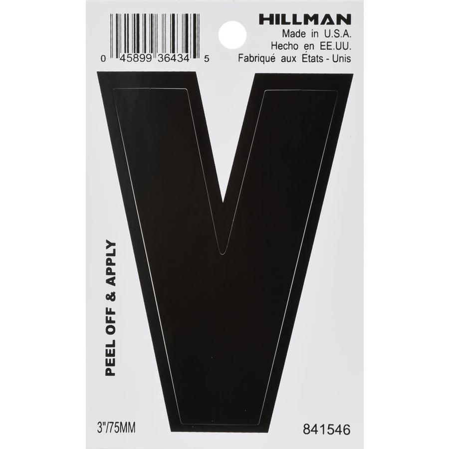 The Hillman Group 3-in Black House Letter V