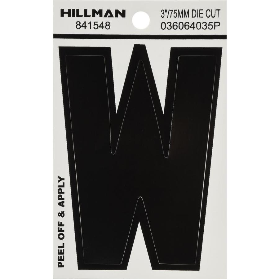 The Hillman Group 3-in Black House Letter W