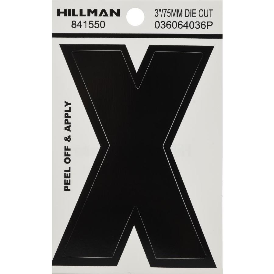Hillman 3-in Black House Letter X