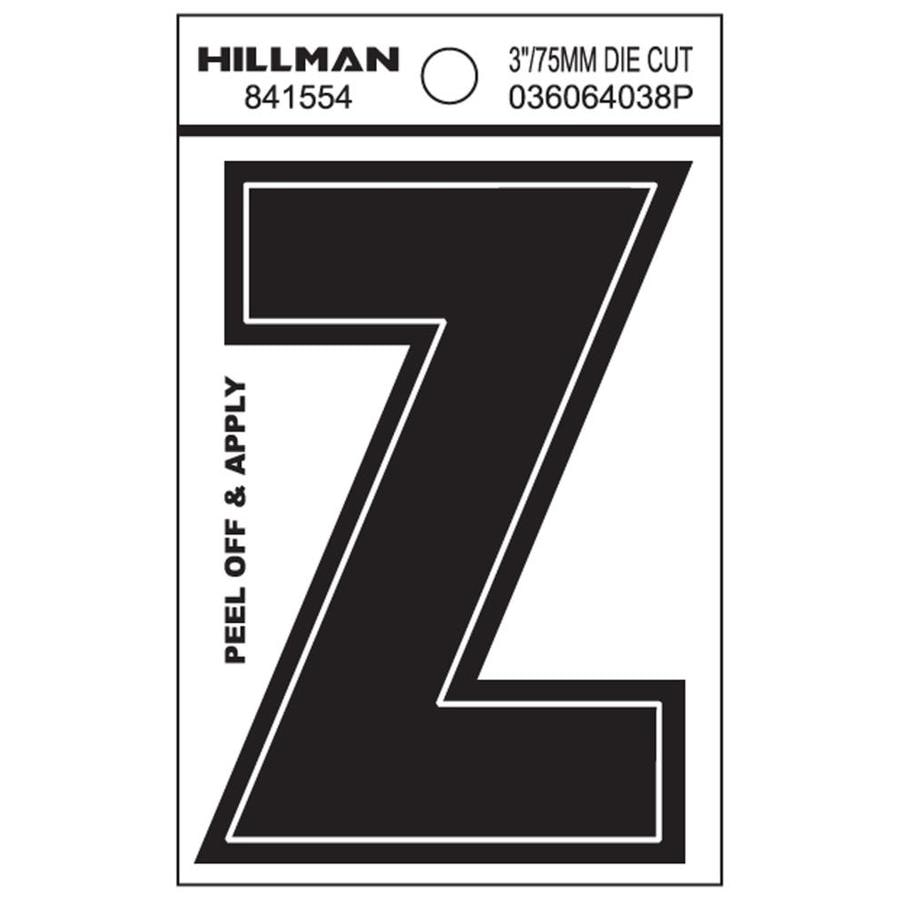 The Hillman Group 3-in Black House Letter Z
