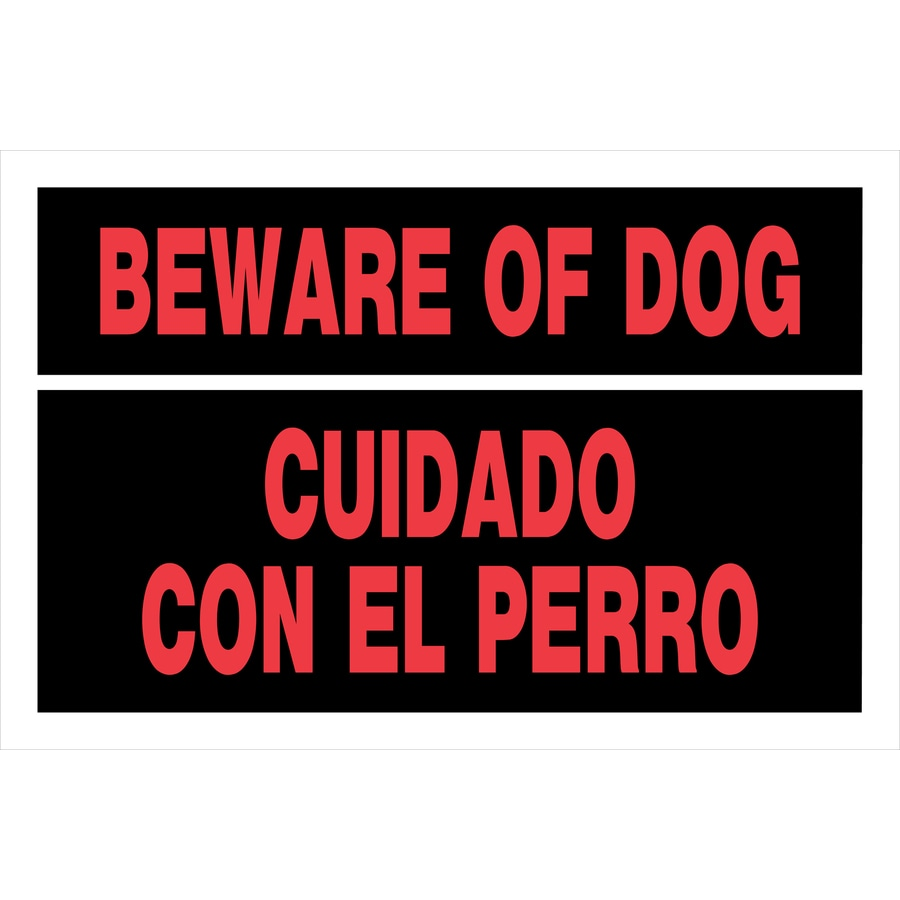 The Hillman Group 8-in x 12-in Beware of Dog Sign