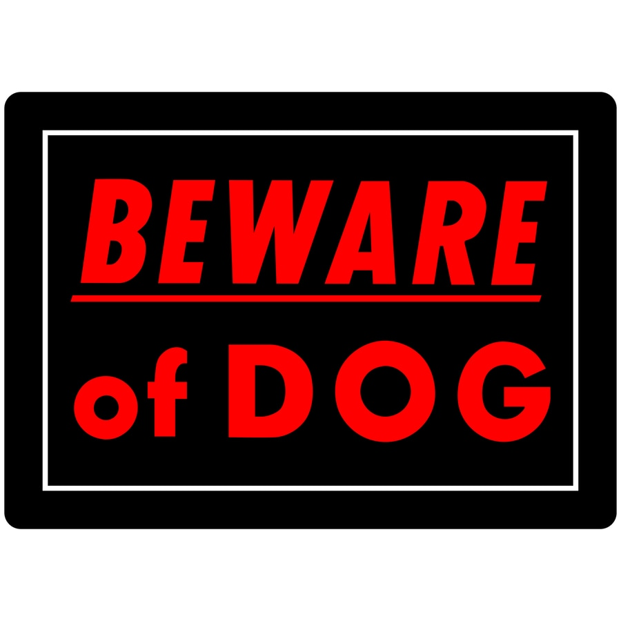 Hillman Sign Center 10-in x 14-in Beware Of Dog Sign