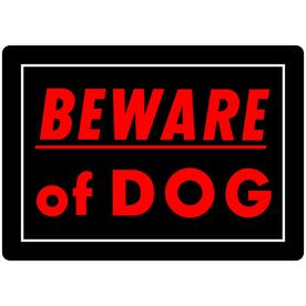 773c42b4898e Hillman Sign Center 10-in x 14-in Beware of Dog Sign