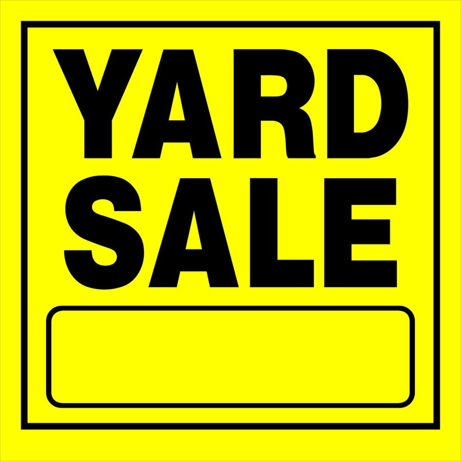 Shop Hillman 11in x 11in Yard Sale Sign at Lowes – Free for Sale Signs for Cars