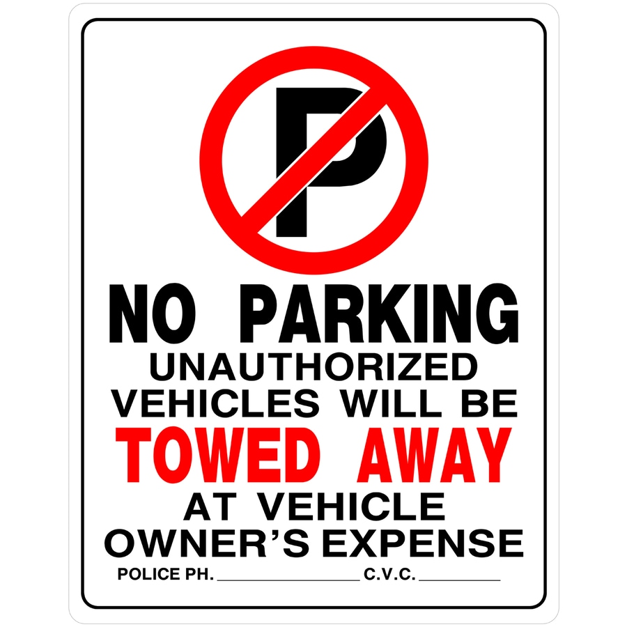 Hillman 19-in x 15-in Parking Sign