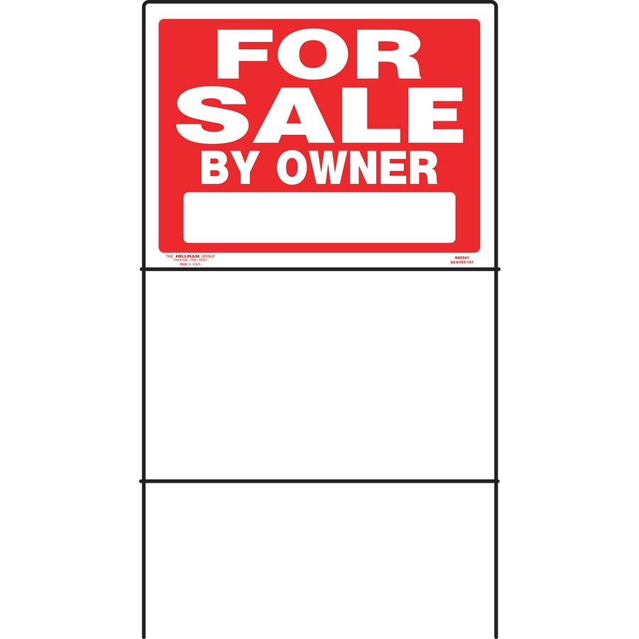Hillman Sign Center 18-in x 24-in for Sale By Owner Sign