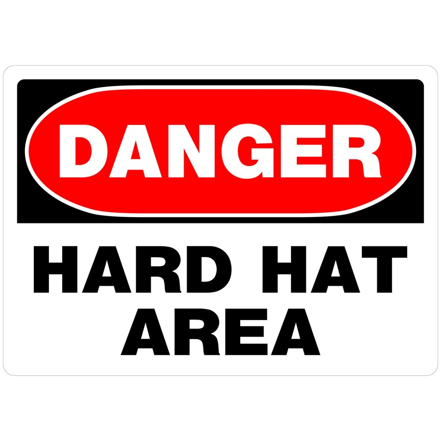 The Hillman Group 9.943-in x 14.093-in Hard Hat Area Sign