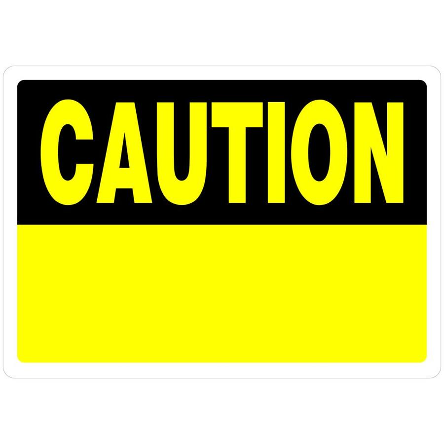 The Hillman Group 10-in x 14-in Caution Sign