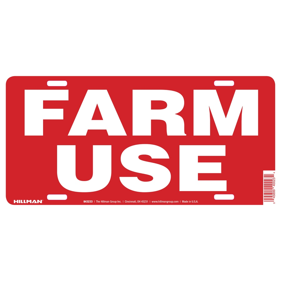 The Hillman Group 6-in House Letter Farm Use