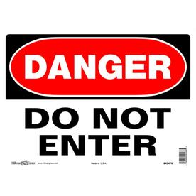 f3518c38fb38 Hillman 10-in x 14-in Aluminum Do Not Enter Sign