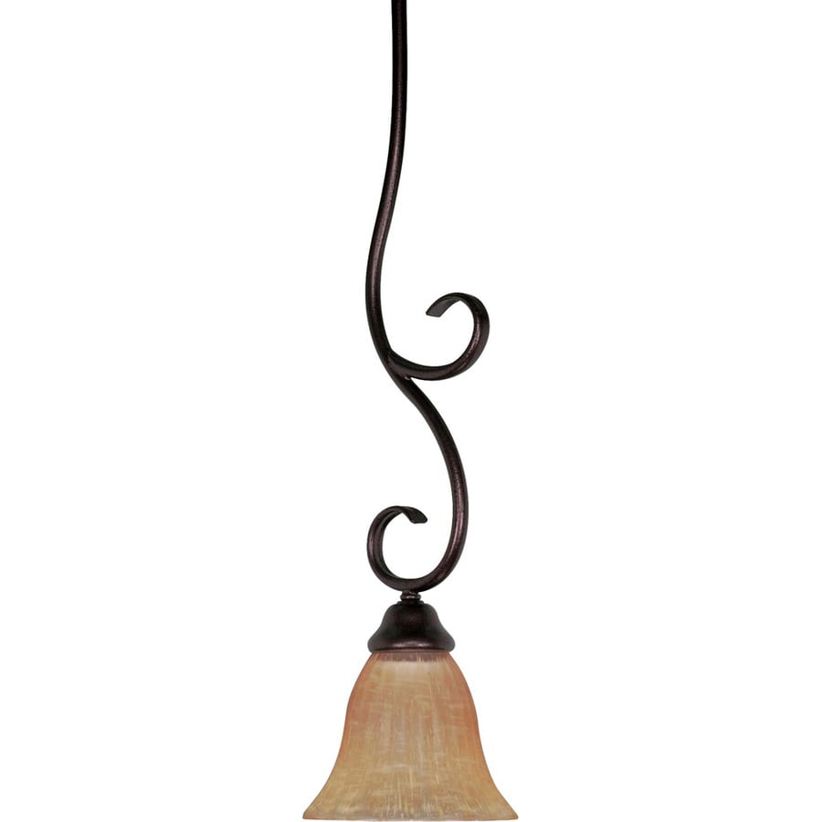 Moulan 16-in Copper Bronze Mini Tinted Glass Bell Pendant