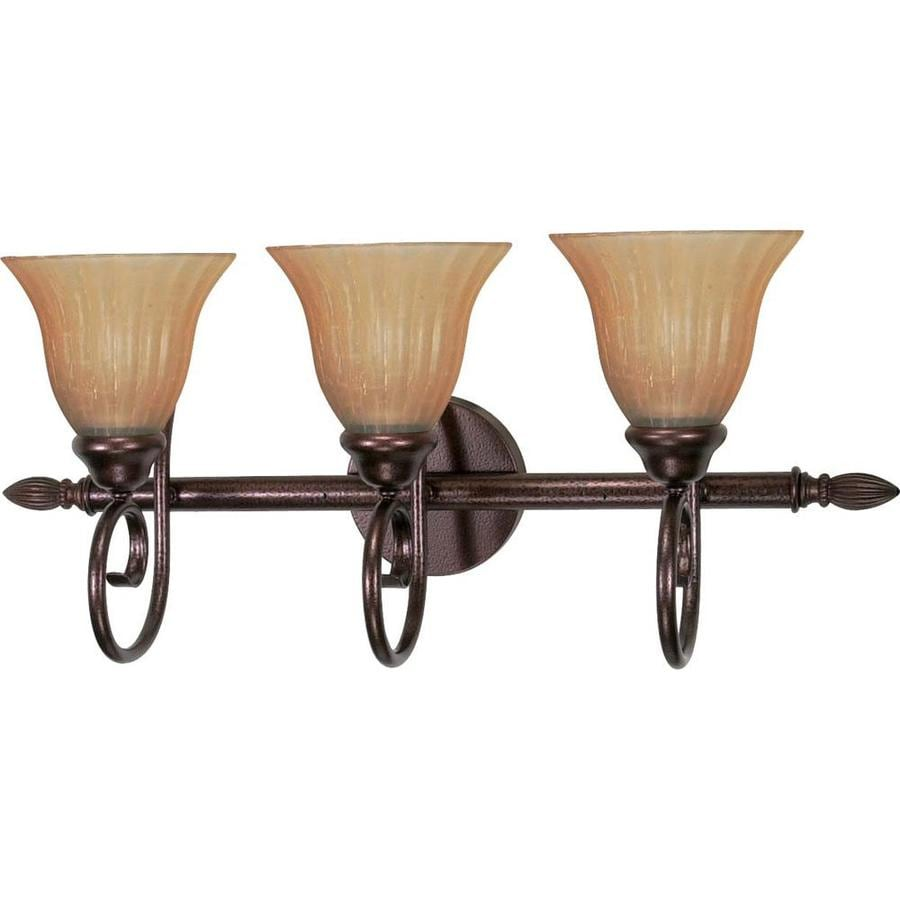 Moulan 3-Light 11-in Copper bronze Vanity Light