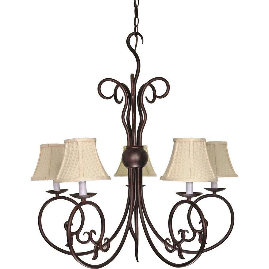 Tapas 28.5-in 5-Light Old Bronze Candle Chandelier