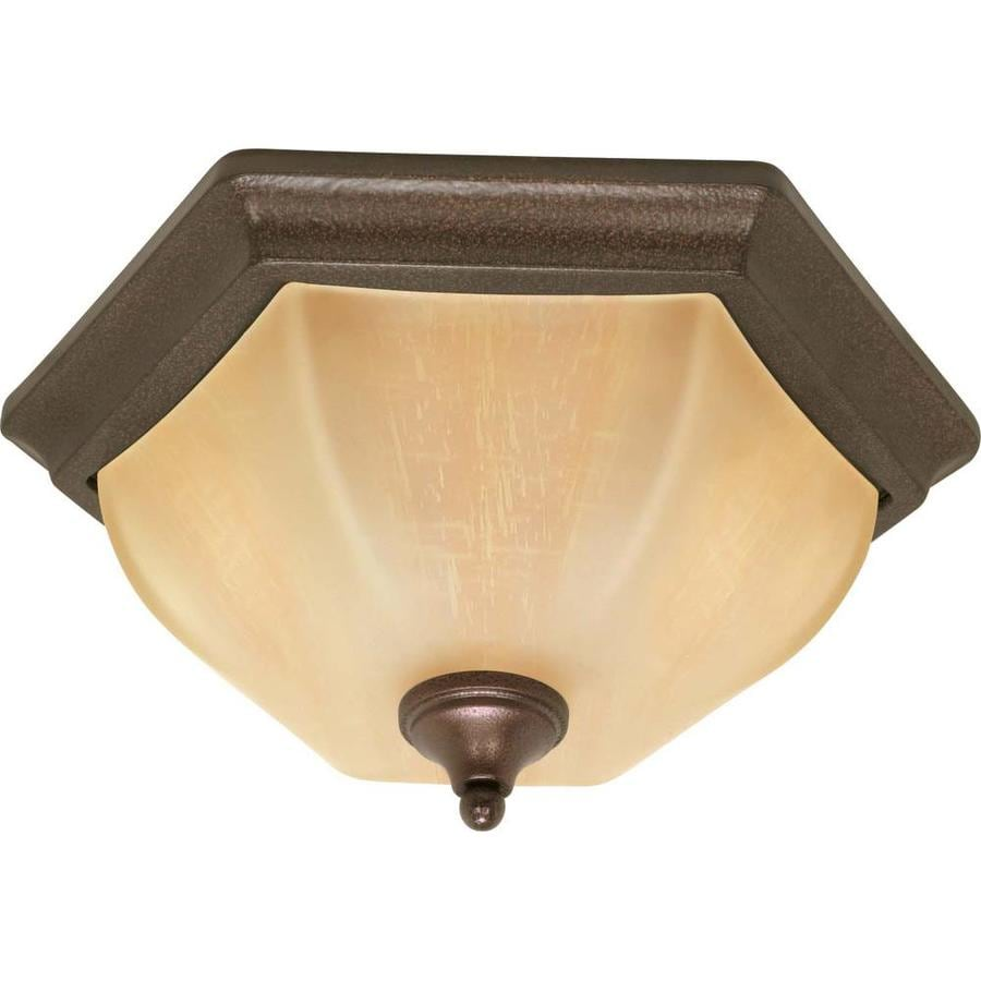 15.5-in W Copper Bronze Standard Flush Mount Light