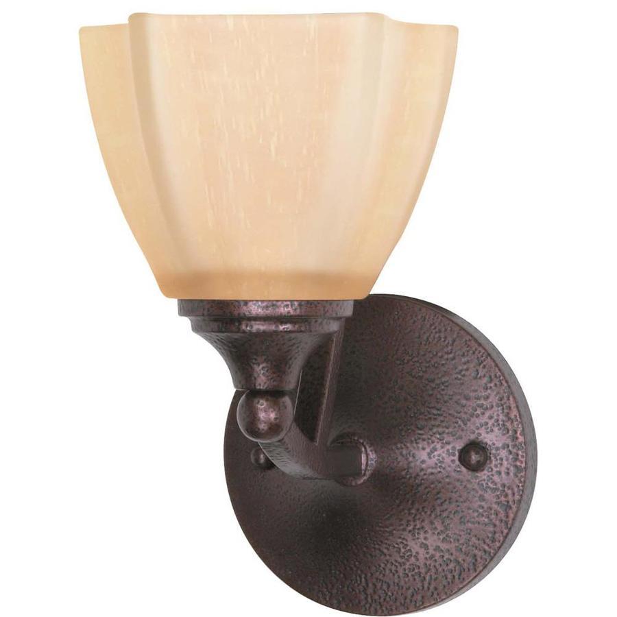 Normandy 1-Light 10-in Copper bronze Vanity Light