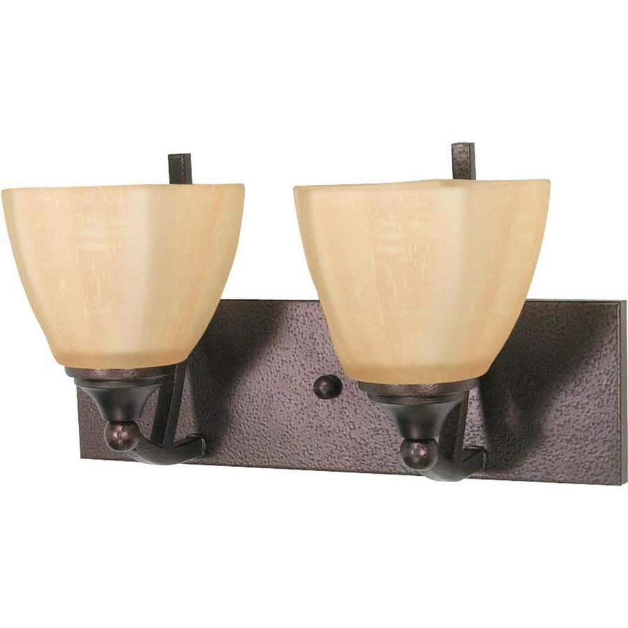 Normandy 2-Light 10-in Copper bronze Vanity Light