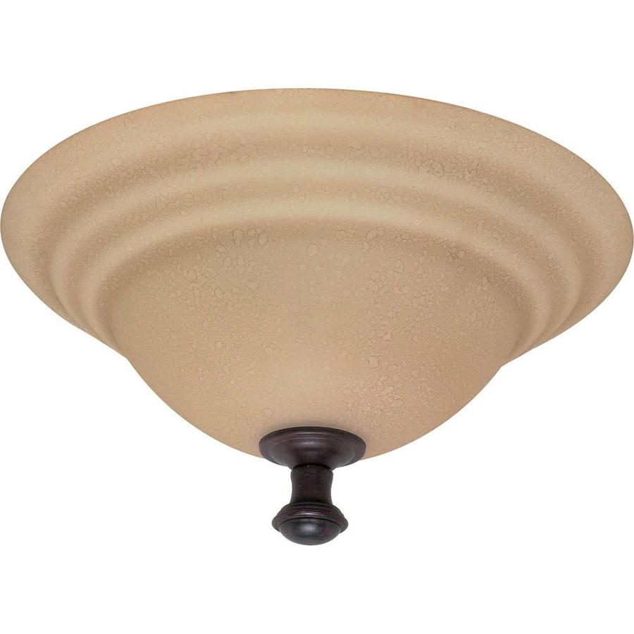 16-in W Old Bronze Standard Flush Mount Light
